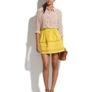 Madewell Lemon Twist Silhouette Skirt